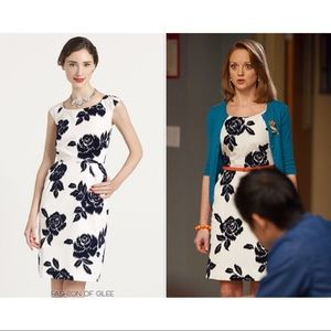Kate spade Navy Velvet Floral Print Josie dress